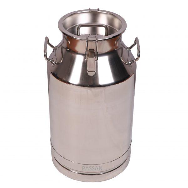 40 Lt Paslanmaz Çelik Kapaklı Klipsli Süt Taşıma Güğümü