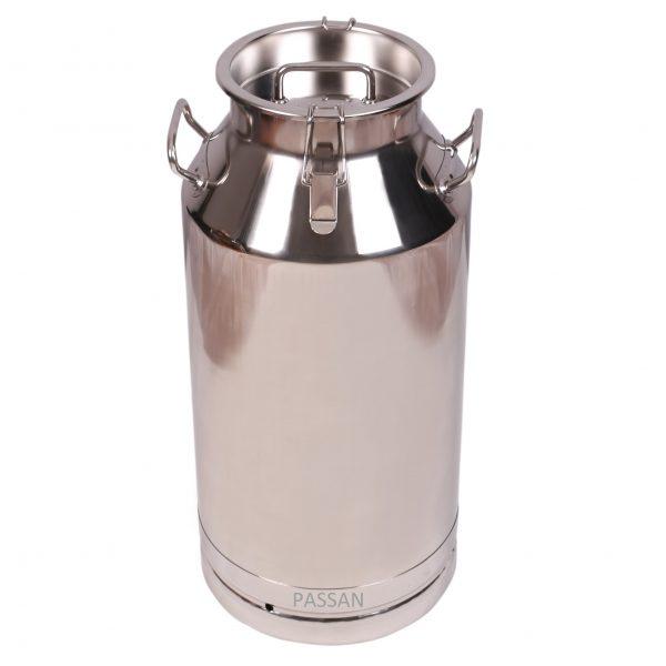50 lt PASSAN Paslanmaz süt güğümü Çelik Kapaklı Klipsli